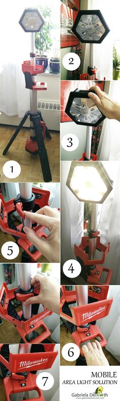 LED Tower Light Solution: battery operated, portable, easy to transport and storage.