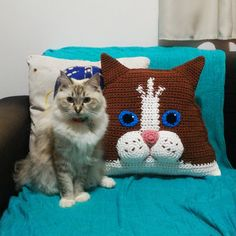Miigu CROCHET PATTERN: Bicolor Ragdoll Cat Pillow (printable PDF-file / 18 pages) _______________________________________________________________ DETAILS This listing is for a PDF crochet PATTERN, not a finished product. It contains a printable PDF-file with 18 pages, teaching how to do a cat crochet pillow from the breed Ragdoll. You may crochet it in any color you want! It may be a blue bicolor ragdoll, cream bicolor ragdoll or seal bicolor ragdoll, its up to you! The pattern has wr...