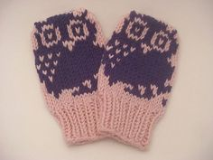 Free Owl Mitten Pattern | Ravelry: Mini Motif Baby Mittens pattern by Nett Hulse