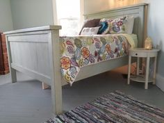 Modified Queen Farmhouse Bed | Do It Yourself Home Projects from Ana White