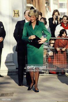 January 19 1989 Princess Diana visits Help the Aged Charity, London