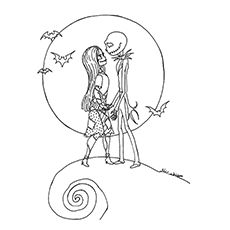 22 Best Coloring Nightmare Before Christmas Images On Pinterest