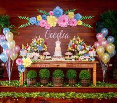 1 mi seguidores, 935 seguindo, 19.2 mil publicações - Veja as fotos e vídeos do Instagram de Fabiola Teles (@encontrandoideias) Butterfly Birthday Party, Flamingo Birthday, Princess Birthday, Baby Birthday, First Birthday Parties, Birthday Party Themes, First Birthdays, Holidays And Events, Paper Flowers
