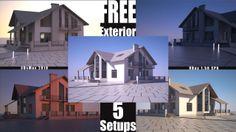 Linear Exterior Setup - 3Ds Max, VRay. FREE EXTERIOR SCENES here: http://vrayart.com/wp/vray-tutorials/linear-exterior-setup-free-3d-scene/ ...