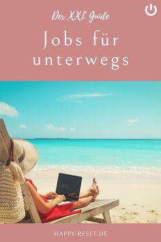 Reisen und dabei Geld verdienen? Diese Jobs erlauben dir ortsunabhängig zu arbeiten und als digitaler Nomade zu leben. Beach Mat, Outdoor Blanket, Happy, Blog, Beautiful Life, Earn Money Online, Freedom, Places, Viajes