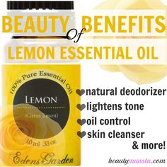 benefits of lemon essential oil Use this one