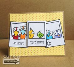 TAWS, The Alley Way Stamps, Birds of a Feather, Bird Brain,  Framed, cards, clear stamps, Sabine