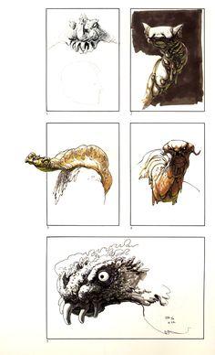 Ralph Mcquarrie - Swamp Creature Sketches 3