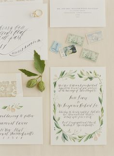 Paper Details: Gorgeous New England Wedding in late September — Feast Fine Art & Calligraphy
