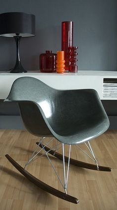 eames rocker - wall colour - white unit - vases - i will have it all