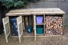Wheelie Bin And Log Storage