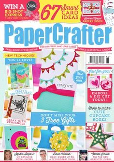 Papercrafter digital sample issue 95  Check out our latest issue of PaperCrafter that is full of inspiring ideas, crafty makes, and exciting techniques to try! Issue 95 comes with FREE embossing boards, dies and royal Sophie Allport papers! Pick up your copy in all good newsagents and supermarkets for the bargain price of £5.99, and head on over to our Facebook and Twitter pages for more crafty chatter.