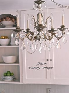 Chandeliers--with chrystal prisms