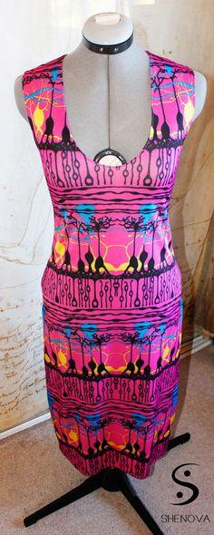 Neuroscience Dress Trippy Retina Print