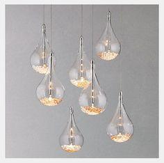 lamp [The Home Edit] - Cosy Nights - Sebastian 7 Light Drop Ceiling Light Drop Ceiling Lighting, Dining Room Lighting, Cool Lighting, Kitchen Lighting, Lighting Design, Pendant Lighting, Ceiling Lights, Pendant Lamp, Drop Lights