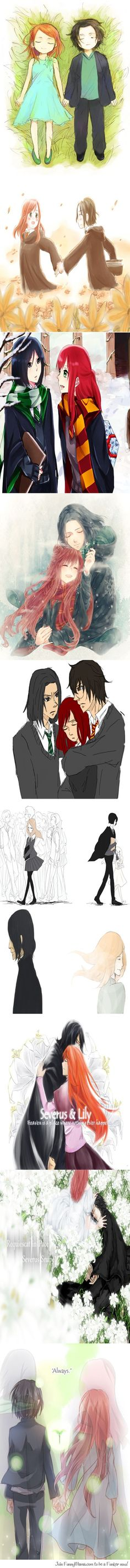 "I didn't really care for Snape until his ""always"" part... I can never hear/read the word ""always"" anymore without tearing up... :'("