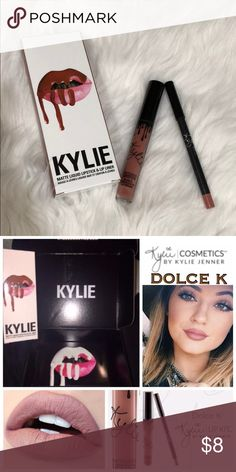 Kylie Dolce K Lippie Set 🌸Used Twice  🌸Pencil sharpened 🌸Will come in original box  🌸Has been sanitized  🌸Just downsizing my makeup collection Kylie Cosmetics Makeup Lipstick