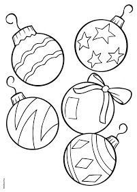 Color Your Own Christmas Ornaments Printable! | Coloring Collections ...