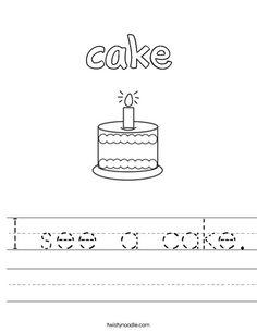 Happy Birthday Worksheet - Twisty Noodle | Pre K Holidays
