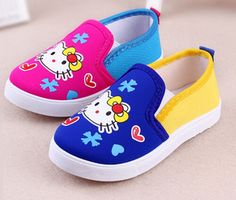 girls canvas shoes slip on sneakers trainers cartoon flats classic moccasins loafers shose zapato mocs injection shoes cheap
