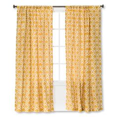A must for adding a lovely finishing touch to your window decor, Threshold Farrah Fretwork Curtain Panel adds a detailed design as well as adding privacy and protecting furniture from sun damage. Target Curtains, Cute Curtains, Yellow Curtains, Nursery Curtains, Drapes Curtains, Drapery, Valance, Window Panels, Window Coverings