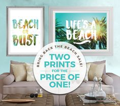 Let's face it, we'd probably all rather be at the beach. Beach is life. But until you can make it back out to the sand and waves, these prints will help you maintain that sun-kissed, happy disposition you picked up on vacation. They look lovely in the office but their also great for your beach house or cottage interior. #beach #lifesabeach #beachhouse #house #travel #wanderlust #vacay  https://www.etsy.com/ca/listing/265273210/2-pack-instant-download-travel-design?ref=listing-shop-header-0