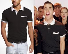 Express Fitted Tipped Pocket Pique Polo - $49.90