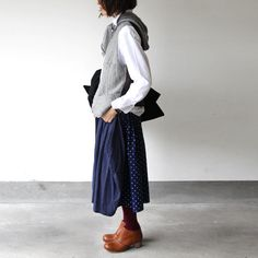 Clogs with skirt & vest: Cute