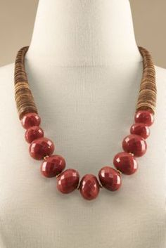 Faceted Vermillion Necklace from Soft Surroundings