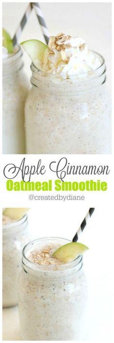 apple cinnamon oatmeal smoothie from http://www.createdby-diane.com /createdbydiane/