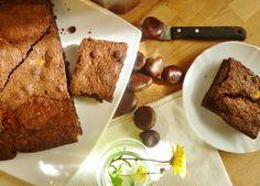 Brownie con castañas para este frío día de otoño...