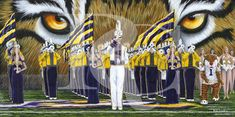 """Randy Camanita 15"""" x 30"""" print on satin paper Other options available Lsu Tigers Football, Saints Football, Football Girls, Football Stuff, Future Band, Louisiana State University, New Orleans Saints, Southern Charm, Cool Bands"""