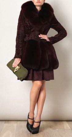 Alexander McQueen Astrakhan and Fox Fur Coat | UpscaleHype