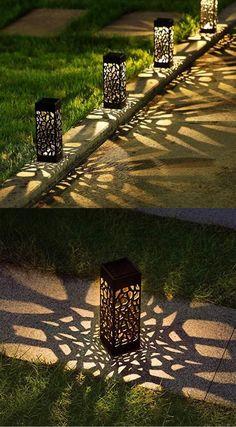 Backyard Lighting, Outdoor Lighting, Outdoor Decor, Backyard Patio, Backyard Landscaping, Outdoor Walkway, Vintage Industrial Furniture, Industrial Design, Home Room Design