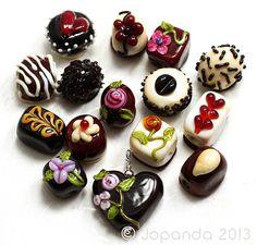 Jopanda Lampwork Beads Handmade SRA Chocolateria Spring Set incl Heart 31   eBay