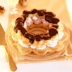 Chocolate and Raspberry Choux Wreath - Woman And Home
