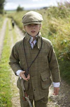 Tweed Shooting Coat for Children