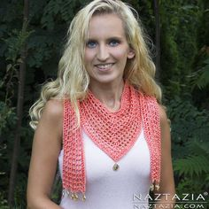DIY Patroon en YouTube Video Tutorial Haak V Scarf door Donna Wolfe uit Naztazia