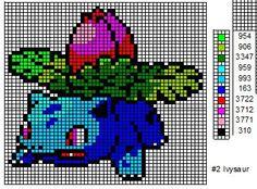 Crochet Fanatic: Bulbasaur Cross stitch pattern