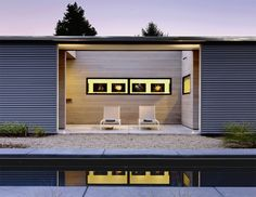 Corrugated metal siding and cedar siding in Hydeaway Pool House in Sonoma, California by Schwartz and Architcture Architecture Details, Interior Architecture, Outdoor Spaces, Outdoor Living, Indoor Outdoor, Monopole, Metal Siding, Patio Interior, Interior Design
