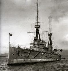 12 in HMS Inflexible - one of the initial Invincible class British battlecruisers.  Her war service included victory at the Falkland Islands in 1914 (picture nearby); serious damage during the Dardanelles campaign in 1915 and Jutland in 1916 (where Invincible, her compatriot in the Falklands, was sunk).