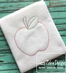 Apple Color Work / Red Work Embroidery Design