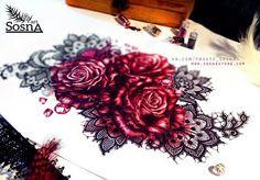 Кружево и розы