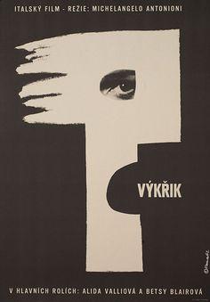 1962 Czech poster for IL GRIDO (Michelangelo Antonioni, Italy, 1957) [see also]  Artist: Karel Vaca (1919-1989)  Poster source: Posteritati