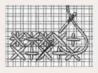 Sternstiche - Hier werden Kreuzstiche zu Sternen. Bei nicht auszählbarem Gewebe arbeitet man Sternstiche immer über zweifädigem Stramin, der auf den Stoff geheftet ist.