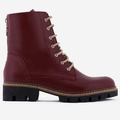 Ghete bordo din piele naturala Lucrezia Dr. Martens, Combat Boots, Shoes, Fashion, Moda, Zapatos, Shoes Outlet, Fashion Styles, Shoe
