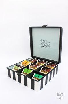 Tea Box Wooden Tea Box, Cigar Box Crafts, Coffee Box, Diy Storage Boxes, My Tea, Diy Box, Twinings Tea Box, Drinking Tea, Tea Set
