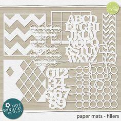 paper mats - fillers