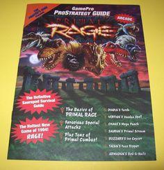 PRIMAL RAGE By ATARI 1994 ORIGINAL NOS VIDEO ARCADE GAME PRO STRATEGY GUIDE MAG.#Atari #PrimalRage #VideoGame #ArcadeGame