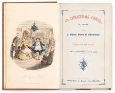 Dickens, Charles. A Christmas Carol. London: Chapman & Hall, 1843.  1st ed, 2nd issue. #FreemansAuction